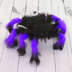 Паук из меха 30см (черный с фиолетовым)