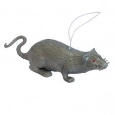 Резиновая Крыса 10см (серая)