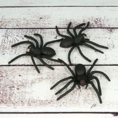 Паук резиновый 6х3см черный