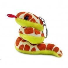 Брелок Змея мягкая средняя Пятнистая