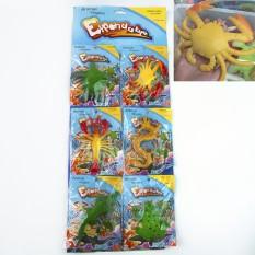 Растущие в воде игрушки 10х6см гиганты Океан №1 цветные (уп 6 шт)