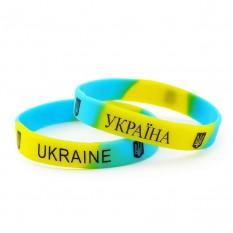 Браслет силиконовый Ukraine (желто-голубой)