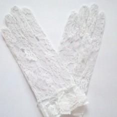 Перчатки гипюровые короткие (белые)