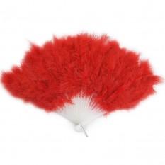 Веер перо (красный)
