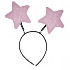 Антенки на ободке Звездочки (розовый)