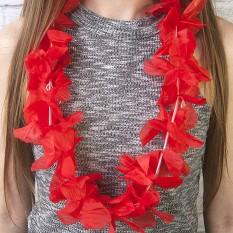 Гавайские леи Орхидеи (красные)