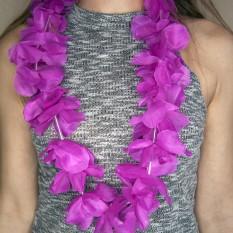 Гавайские леи Орхидеи (малиновые)