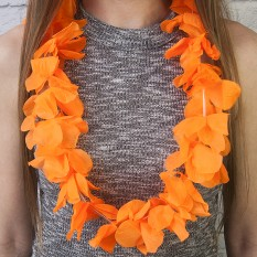 Гавайские леи Орхидеи (оранжевые)