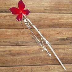 Волшебная палочка ФЕИ с мишурой красная