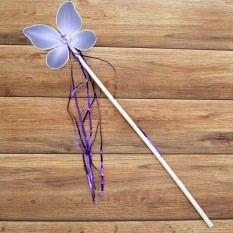 Волшебная палочка ФЕИ с мишурой сиреневая