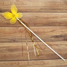 Волшебная палочка ФЕИ с мишурой желтая