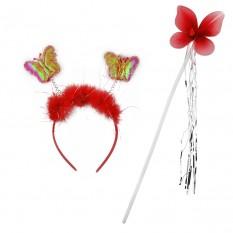 Набор бабочки Феи (красный)