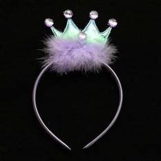 Аксессуар на ободке Корона с пухом (фиолетовый)
