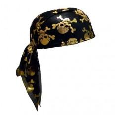 Бандана пирата с черепами (золото)