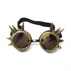 Очки Стимпанк Гогглы с шипами (золото)