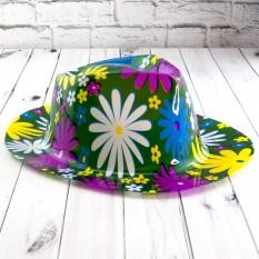 Шляпа Мужская пластик с принтом Ромашка