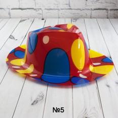 Шляпа Мужская пластик с принтом Абстракция