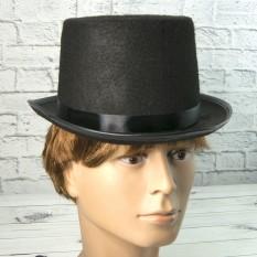 Шляпа Цилиндр фетр H13см (черный)