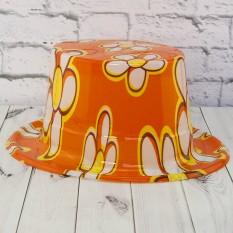 Шляпа Цилиндр пластик с принтом Ромашки