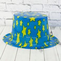 Шляпа Цилиндр пластик с принтом Звездочки