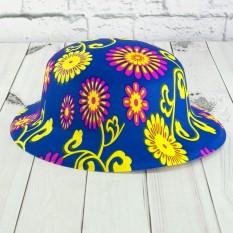 Шляпа детская Котелок пластик с принтом Цветочки