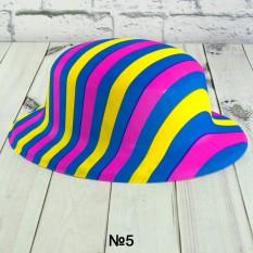 Шляпа детская Котелок пластик с принтом Абстракция