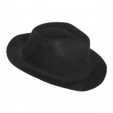 Шляпа детская Мафия флок (черная)