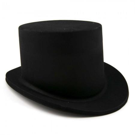 Шляпа детская Цилиндр Флок (черная)
