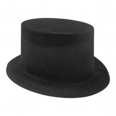 Шляпа Цилиндр Флок (черная)