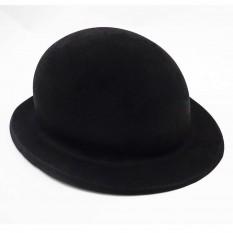 Шляпа детская Котелок флок (черная)