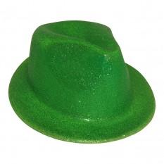 Шляпа детская Мафия блестящая (зеленая)