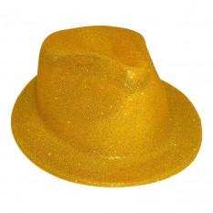 Шляпа детская Мафия блестящая (золото)