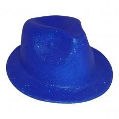 Шляпа детская Мафия блестящая (синяя)