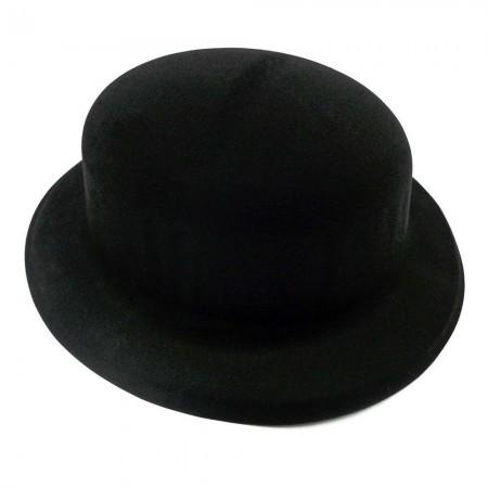 Шляпа Котелок флок (черная)