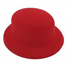 Шляпа Котелок флок (красная)