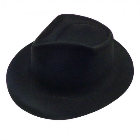 Шляпа Мужская флок (черная)