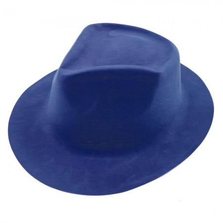 Шляпа Мужская флок (синяя)