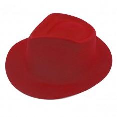 Шляпа Мужская флок (красная)