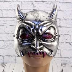 Полу маска Демон (серебро)