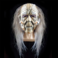 Маска латексная Ведьма с волосами