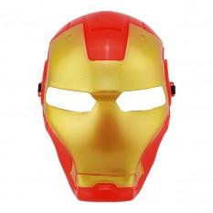 Маска пластик Железный человек (красная)