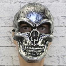 Маска пластик Череп (матовый) серебро