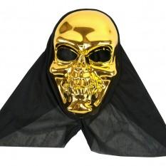 Маска с капюшоном Череп (золото)