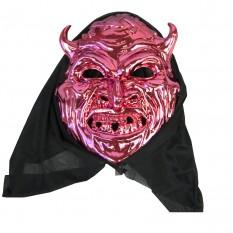 Маска с капюшоном Дьявол (розовый)