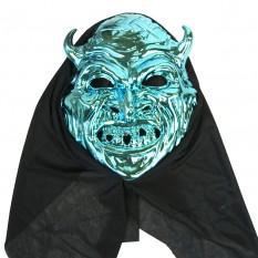 Маска с капюшоном Дьявол (голубой)