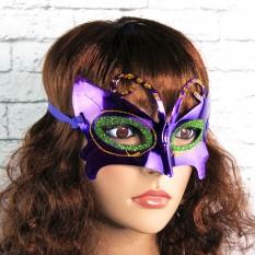 Венецианская маска Бабочка (фиолетовая)