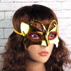 Венецианская маска Бабочка (золото)