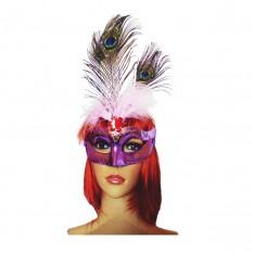 Венецианская маска Дива (сиреневая)