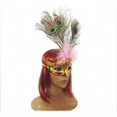 Венецианская маска Дива (золотая)