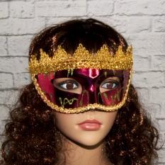 Венецианская маска Вероника (бордовая)